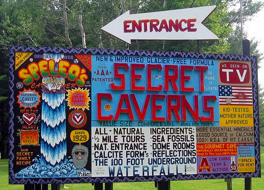 secret caverns billboard ny cave